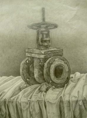 超写实素描作品—学生手绘